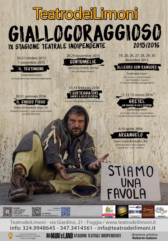 intervista a Roberto Galano del Teatro dei Limoni
