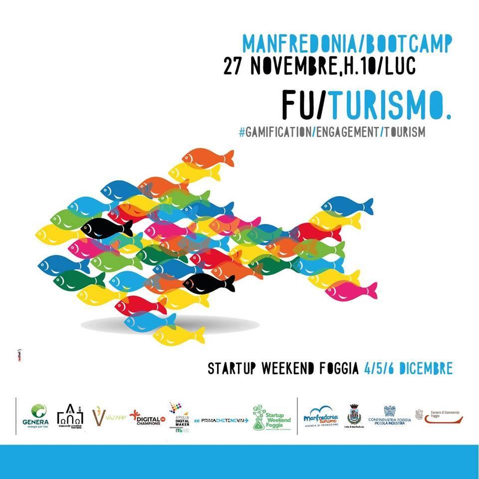 Futurismo, la locandina dell'evento di apertura di Startup Weekend