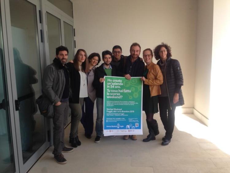 Gli organizzatori dello Startup Weekend Foggia