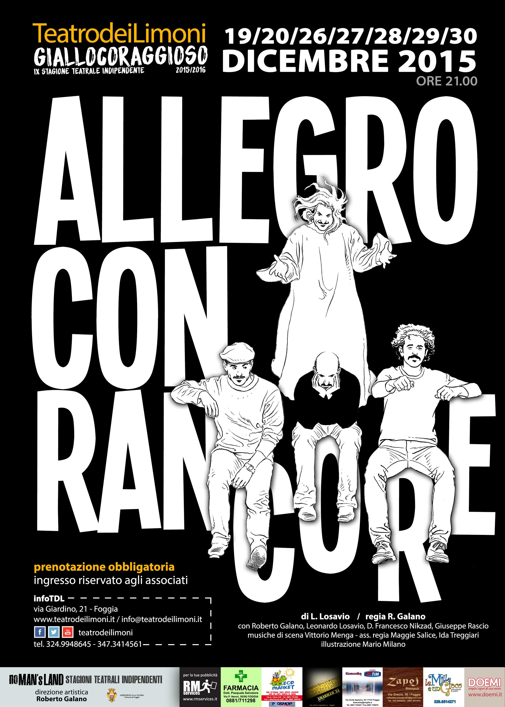 """""""Allegro con rancore"""", in scena al Teatro dei Limoni di Foggia"""