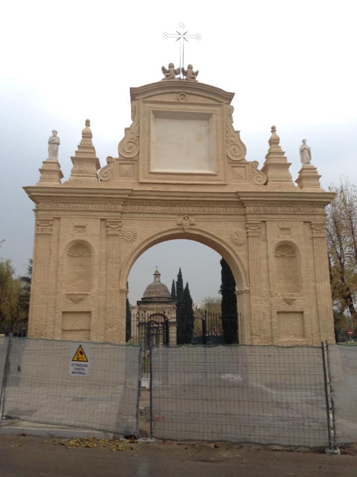 La facciata della Chiesa delle Croci dopo il restauro