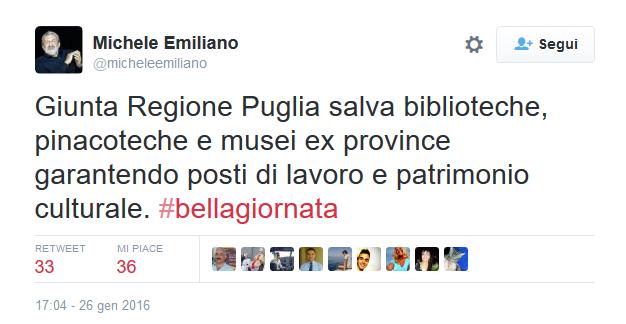 """Michele Emiliano: """"La biblioteca provinciale di Foggia è salva"""""""
