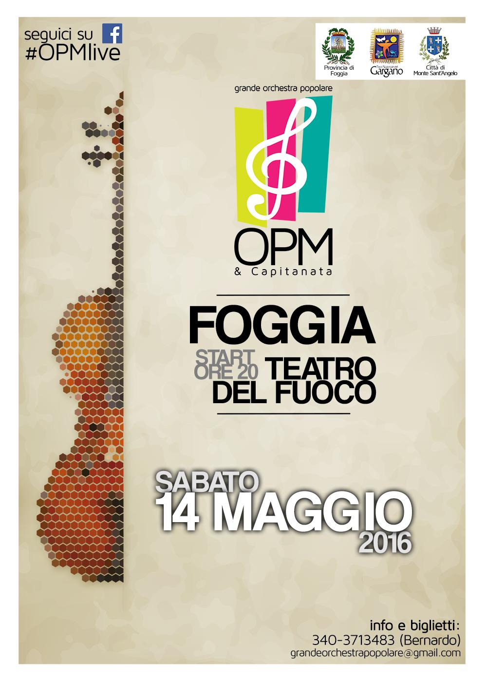 Orchestra Popolare in concerto al Teatro del Fuoco di Foggia