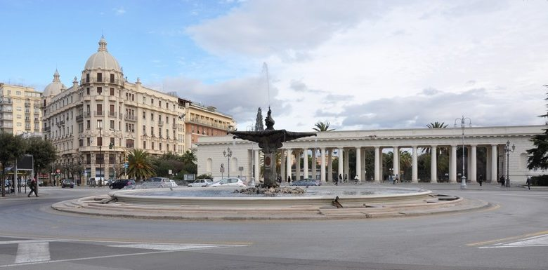 Piazza Cavour a Foggia chiusa al traffico