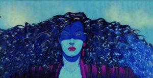 """Il disegno originale realizzato da Andrea Pazienza per il film di Federico Fellini: """"La città delle donne""""."""