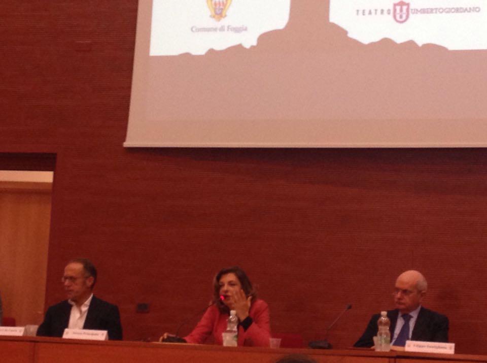 Teresa Principato all'Università di Foggia per il Festival della Ricerca