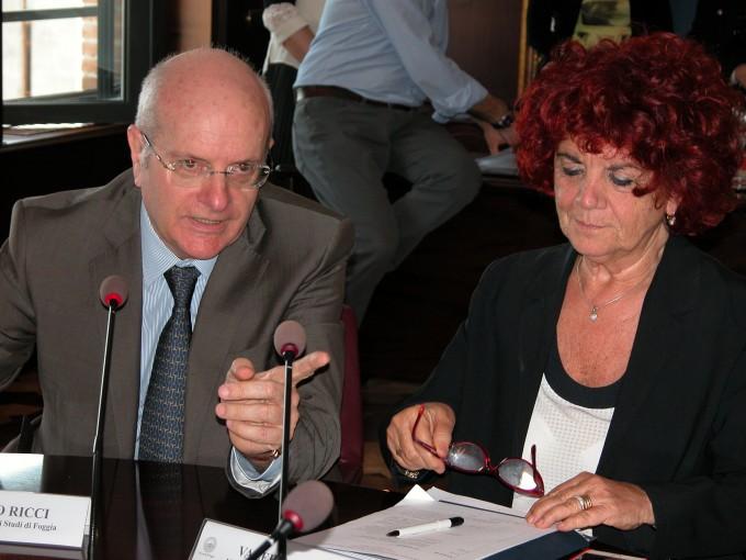La senatrice Valeria Fedeli e il Rettore Ricci