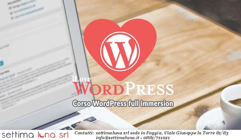 Corso Wordpress Foggia: imparare a creare siti web. Realizzazione siti web Foggia, corsi di formazione Foggia