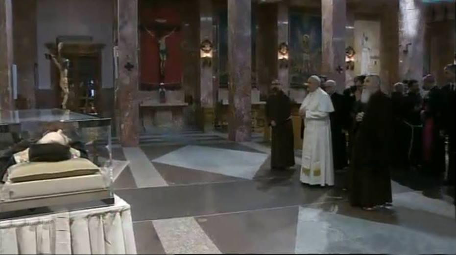 Papa Francesco a San Giovanni Rotondo