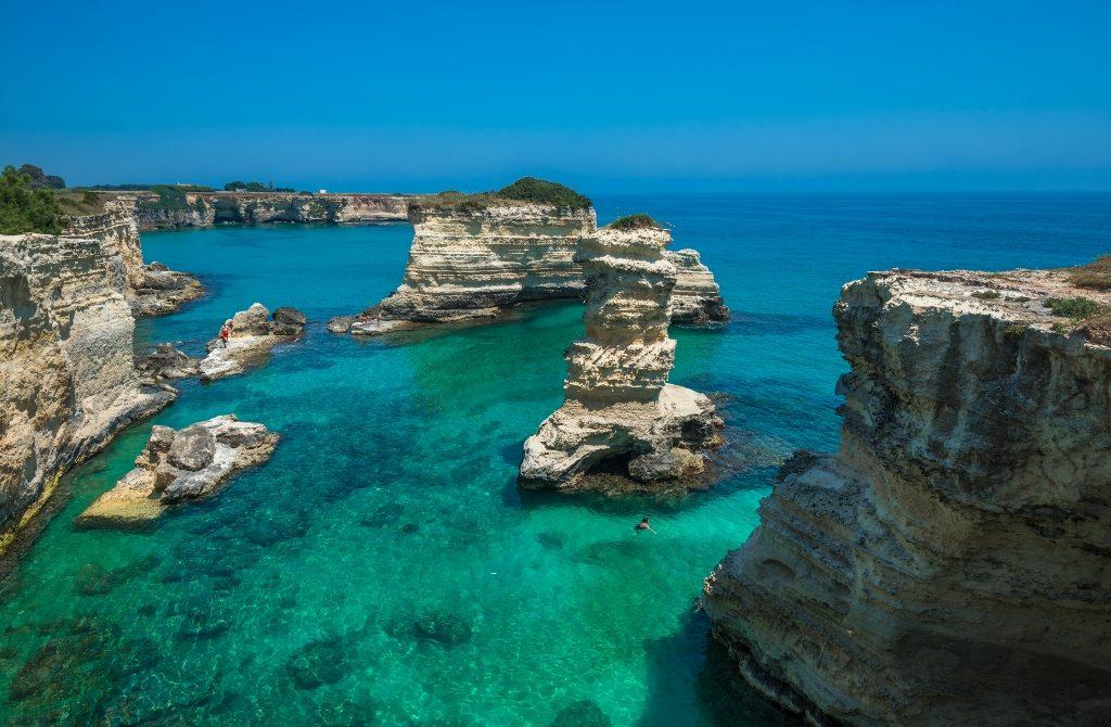 Rocky Beach In Puglia, Torre Sant'andrea, Italy