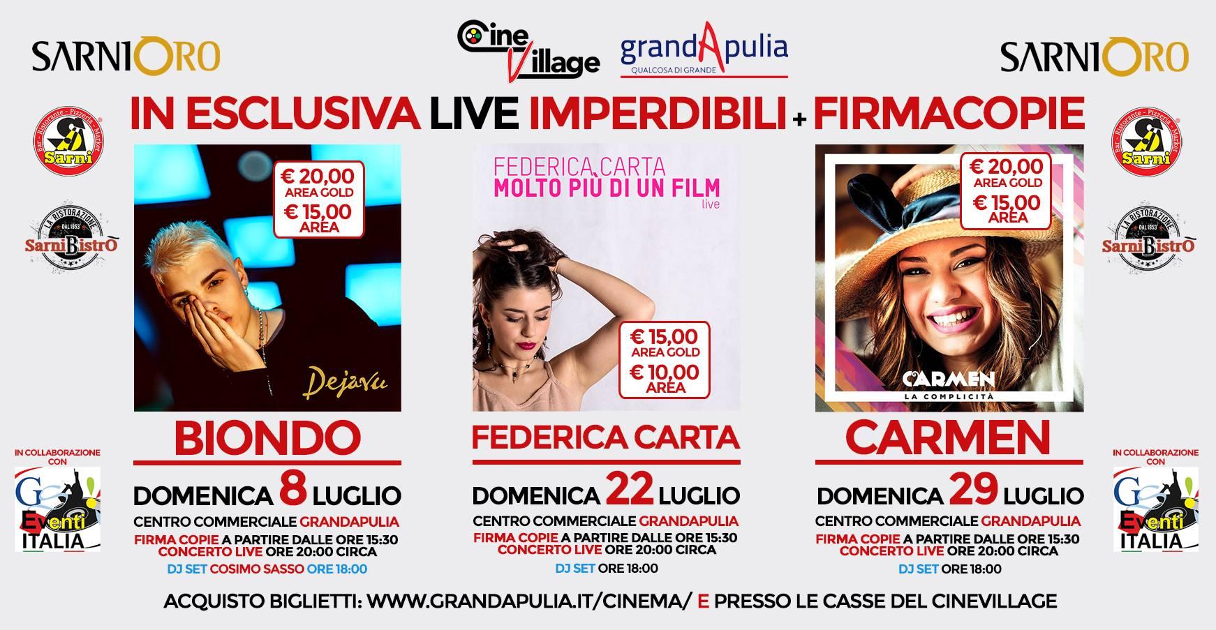 GrandApulia Biondo, Carmen, Federica Carta