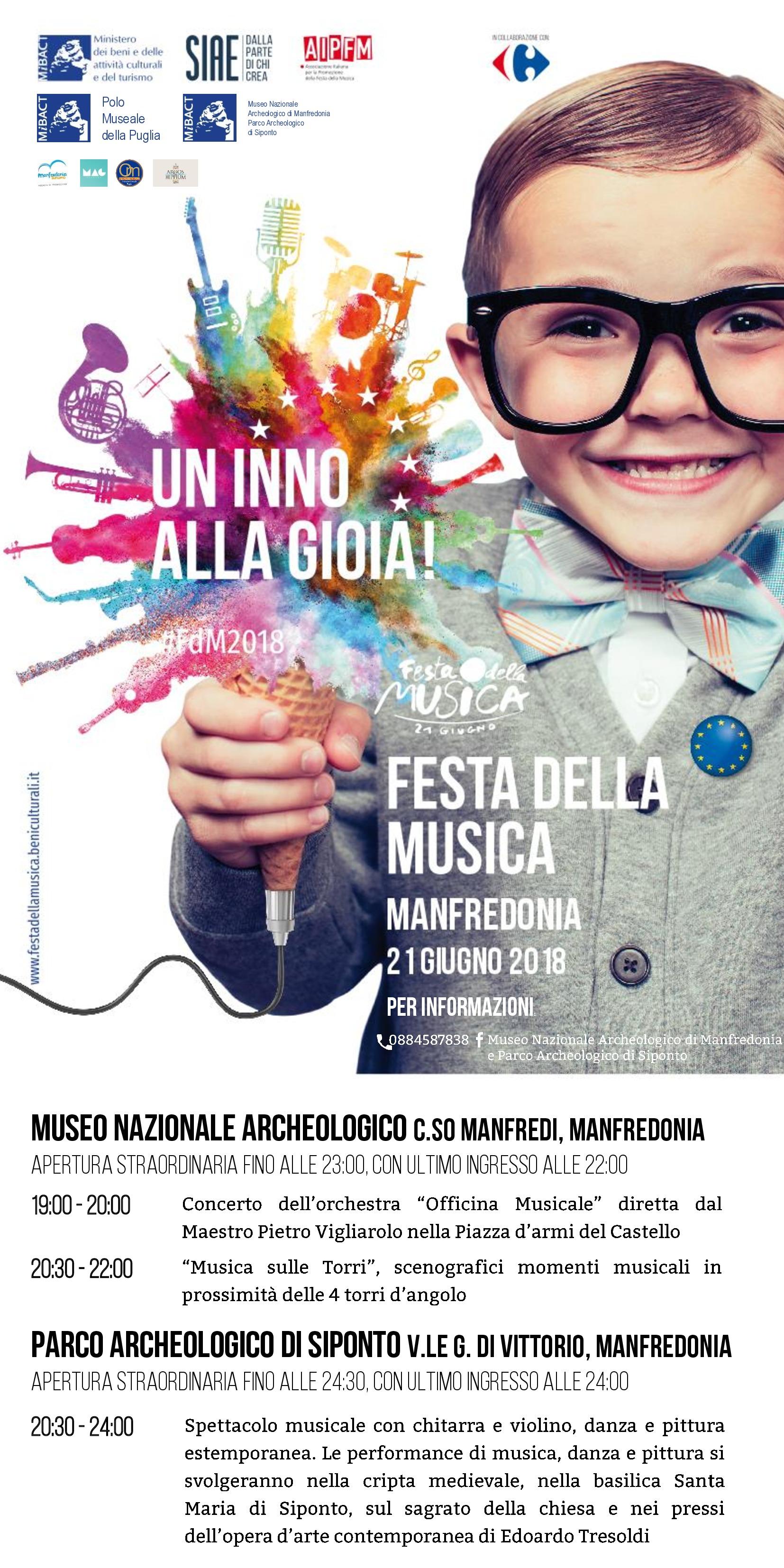 Museo Manfredonia E Parco Siponto Festa Della Musica 2018