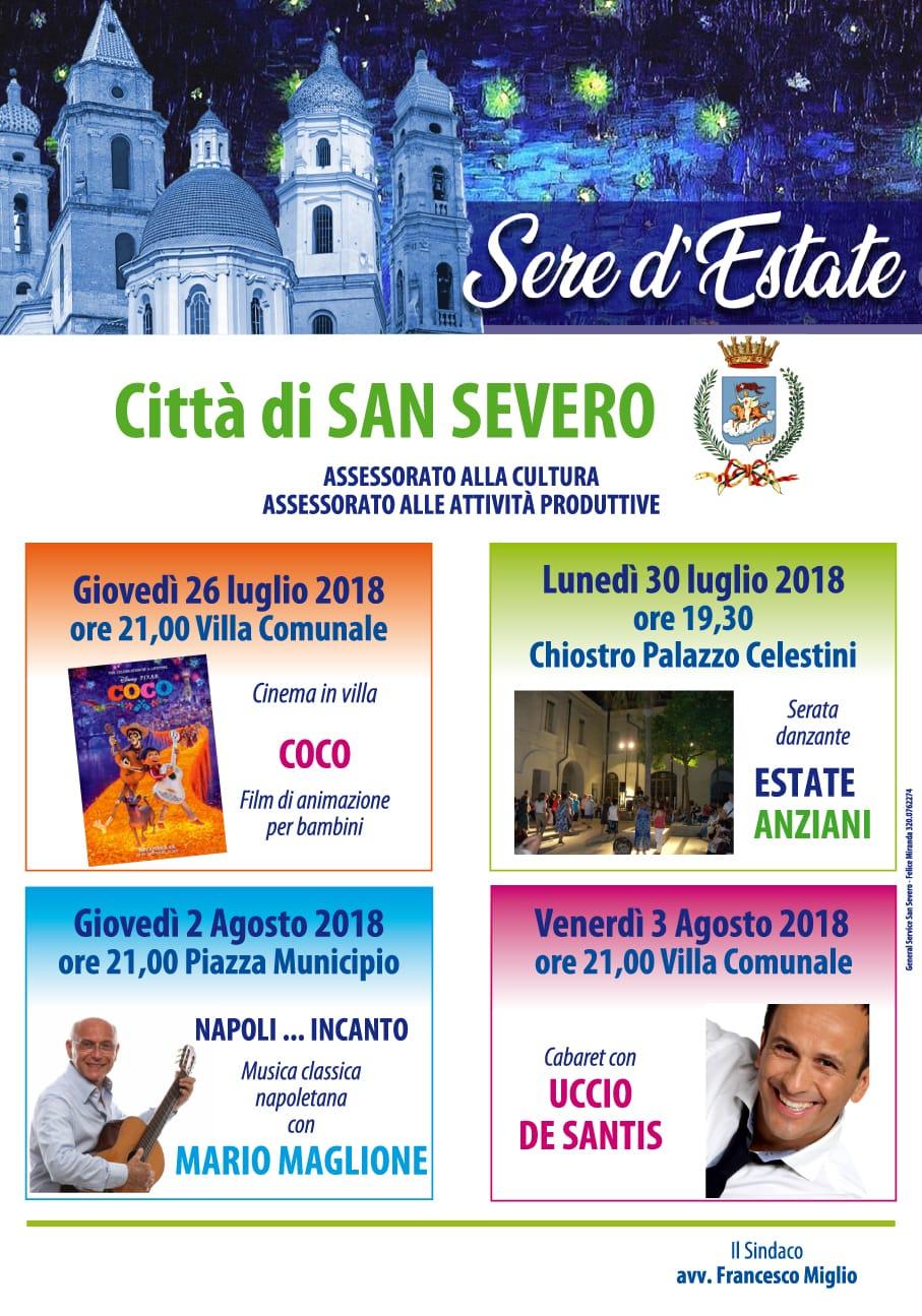 Cartellone Estate 2018