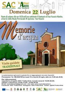 Locandina Della Visita Guidata Al Santuario Di San Nazario Martire