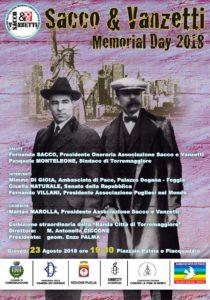 Sacco E Vanzetti Memorial Day 2018