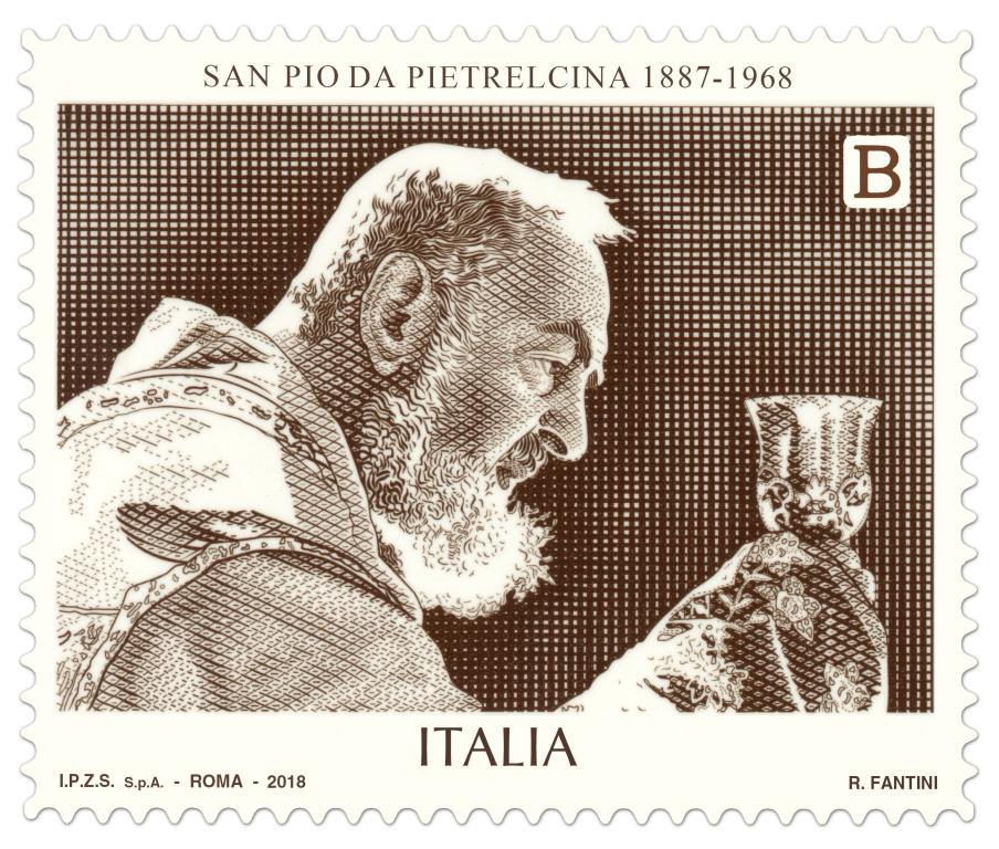 Francobollo Padre Pio