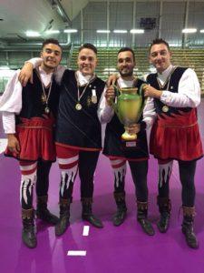Lucerini I Campioni Italiani Piccola Squadra, Da Sinistra Pasquale Di Muro, Francesco Calabrese, Davide Mainieri E Luca Avallini