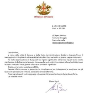 Lettera Sindaco Di Genova