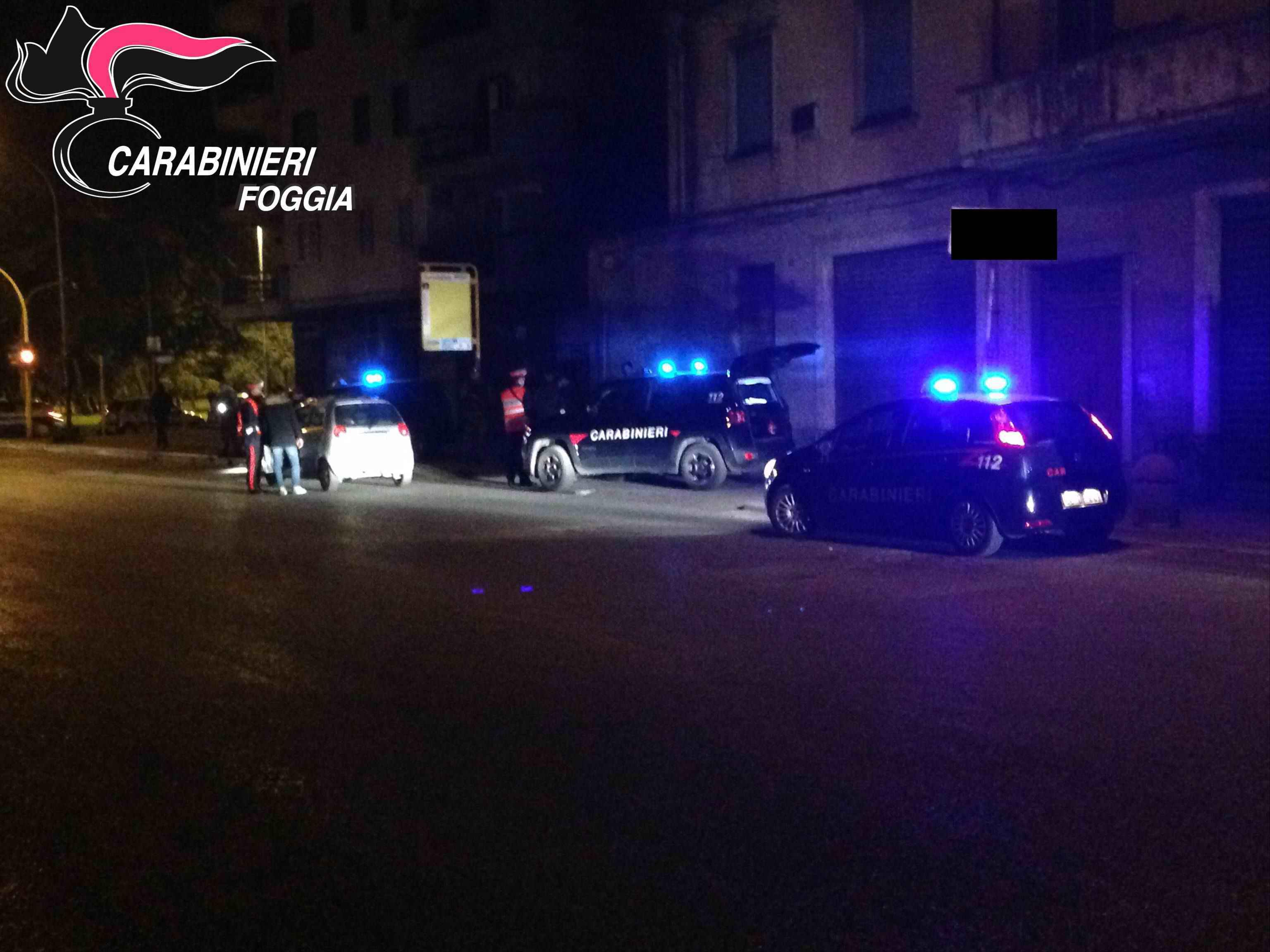 Controlli carabinieri movida notturna