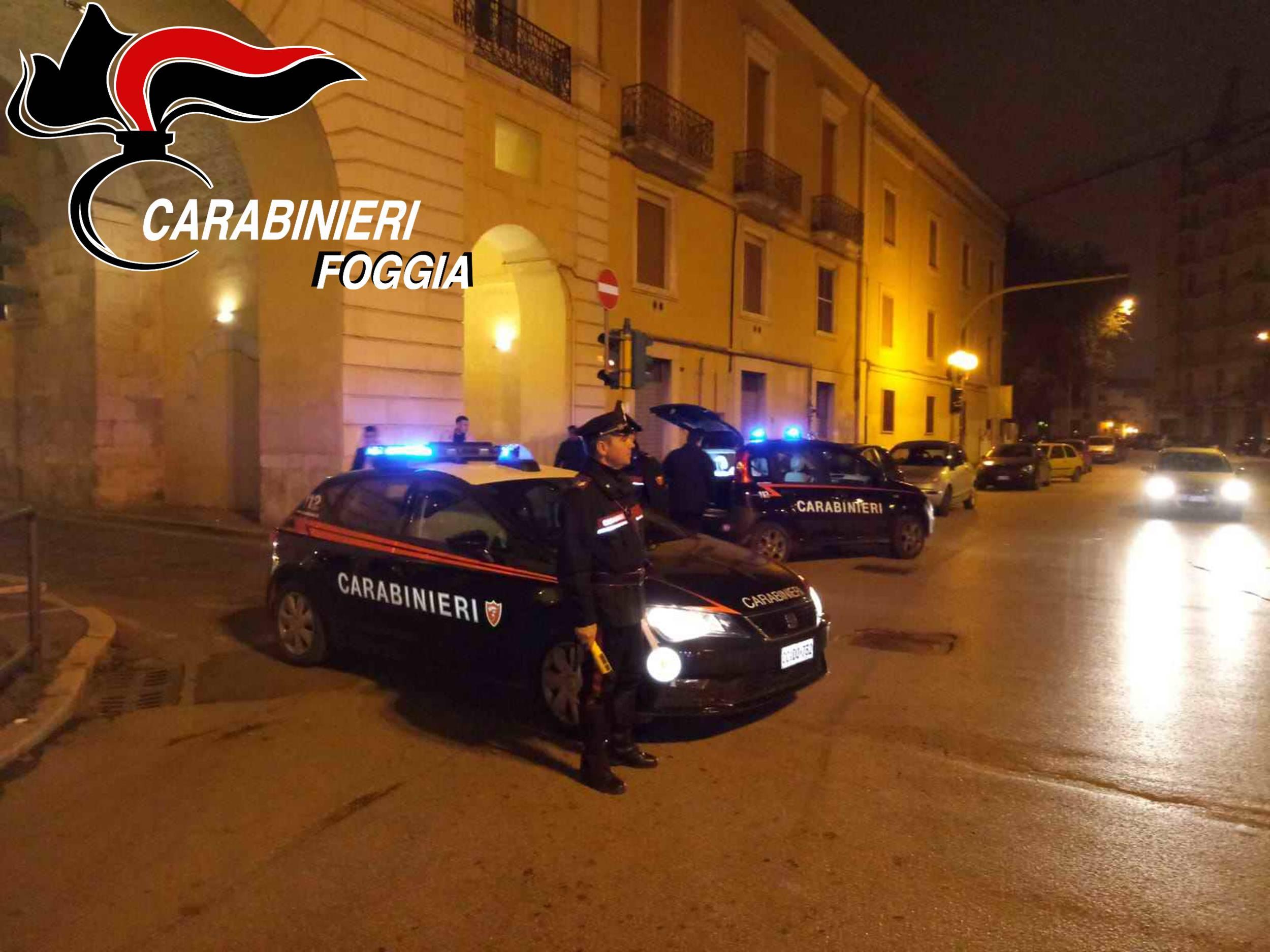 Carabinieri servizio antisballo