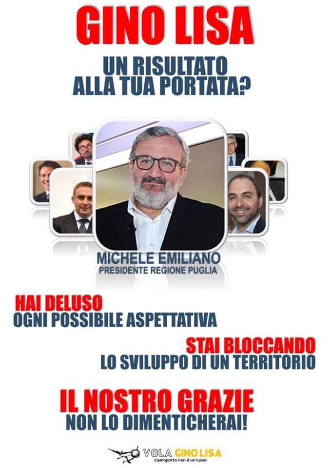 "Comunicato stampa Comitato ""Vola Gino Lisa"""