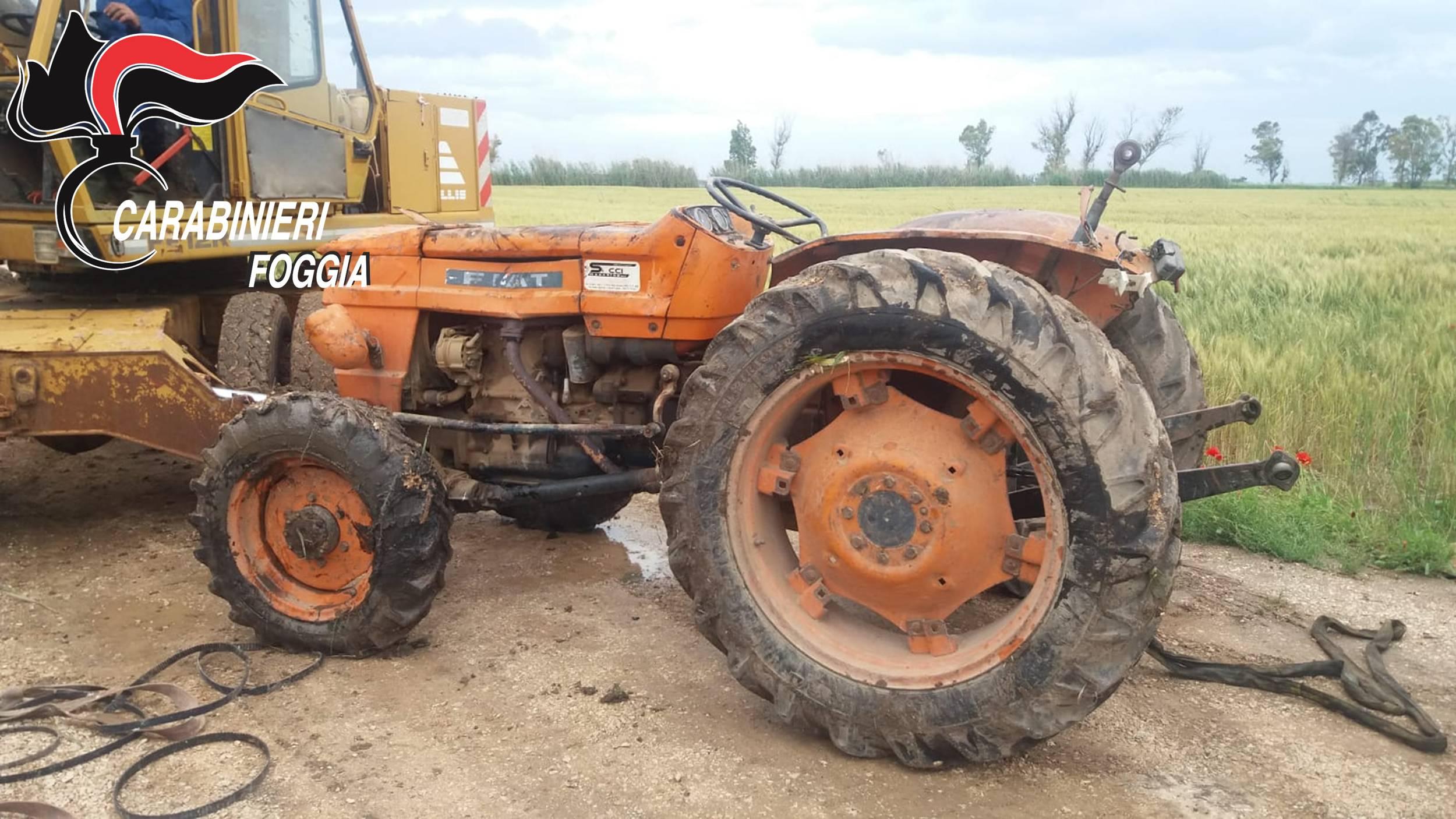 macchine agricole ritrovate