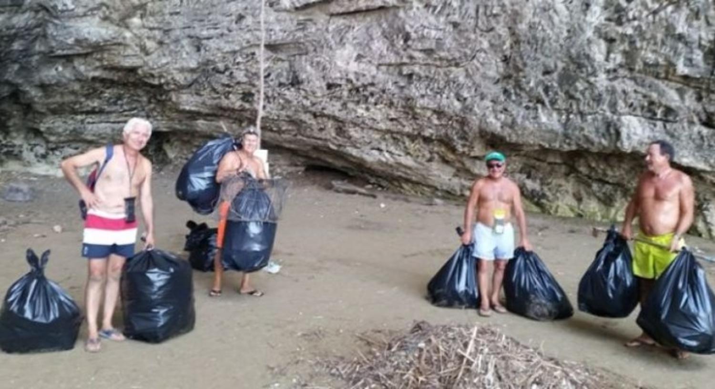 volontari-ripuliscono-grotte-gargano