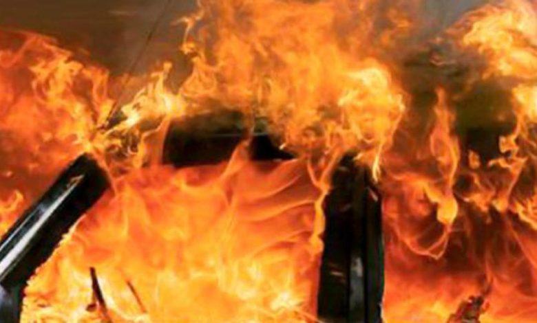 san severo auto incendiata
