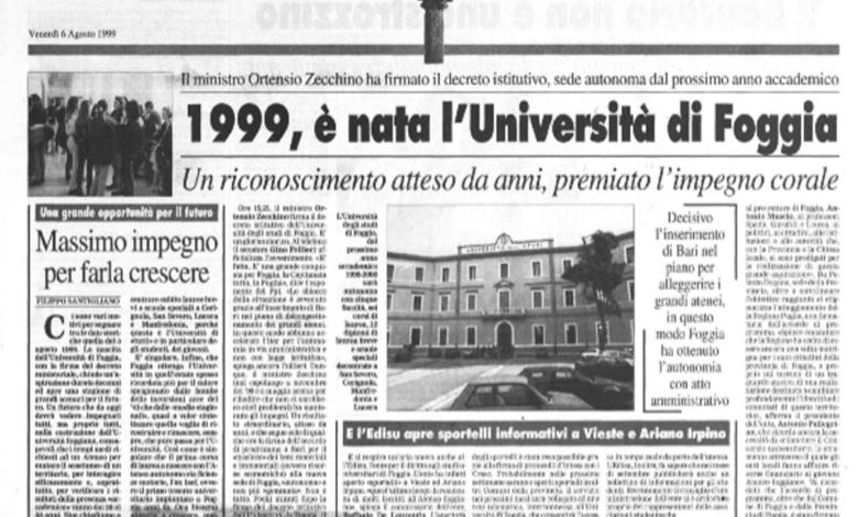 La Gazzetta del Mezzogiorno, 6 agosto 1999