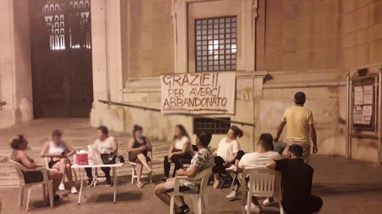 proteste palazzina via san severo