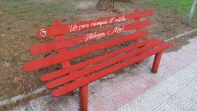 Photo of Panchine rosse in giro per Foggia per dire no alla violenza sulle donne
