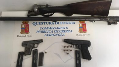Photo of In una casa di campagna nascondeva fucile e pistole: arrestato 61enne