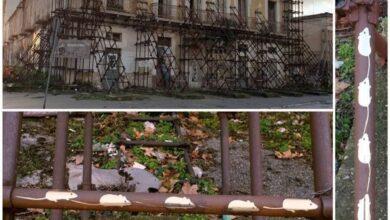 """Photo of Foggia, sull'impalcatura del palazzo Longo spuntano dei topolini: """"l'attacco d'arte"""" di Katia Berlantini"""