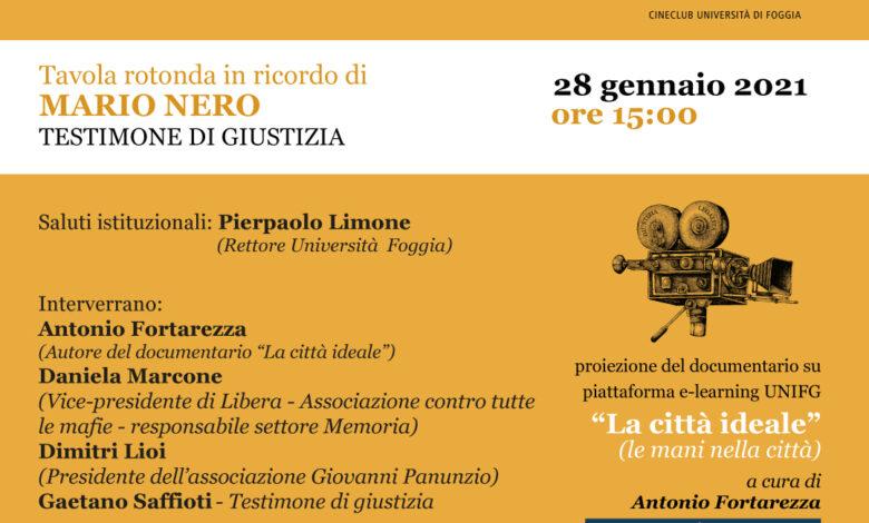 Photo of Il Cineclub Universitario Cinemafelix inaugura le attività nel ricordo del testimone di giustizia Mario Nero