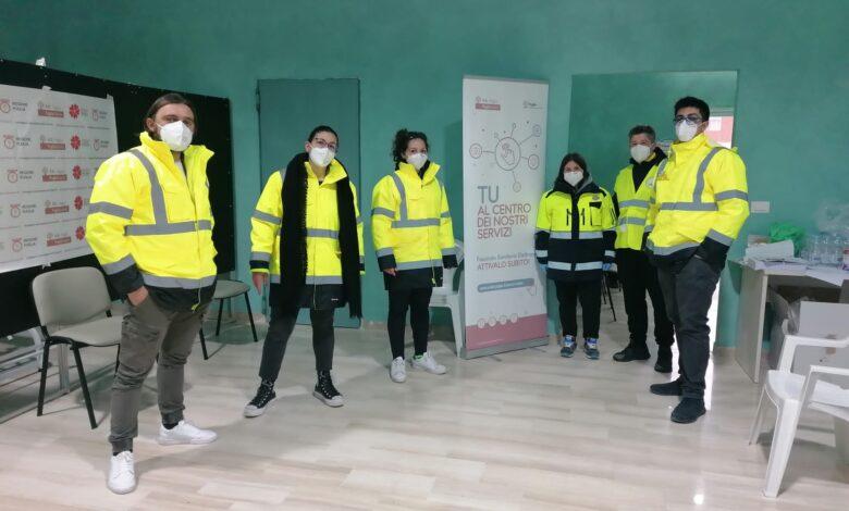 Orsara volontari centro vaccini
