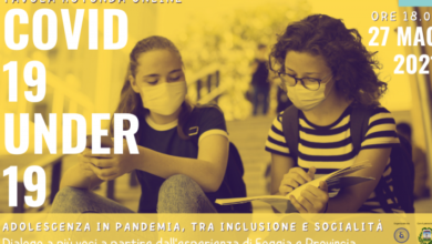 Photo of Tavola rotonda online: Covid 19 Under 19. Adolescenza in pandemia tra inclusione e socialità
