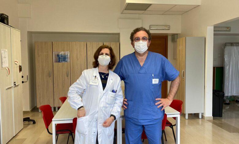 foto da sinistra la Dott.ssa Anna Nunzia Polito e il Prof. Sergio Lo Caputo