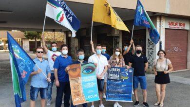 Photo of Giornata internazionale contro la droga, a Foggia il partito di Giorgia Meloni presente all'iniziativa con un flash mob
