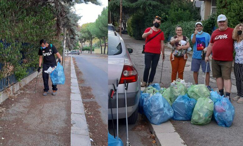 Raccolta rifiuti al parco in zona Pantanella a Foggia 1